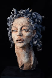Clay sculpture Knower, by Louise Pentz