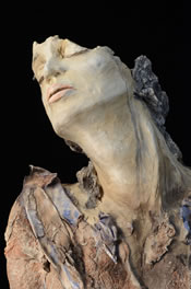 Clay sculpture No More by Louise Pentz